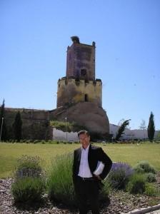 Fabio Civitelli e a torre de Moura