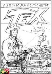 Esboço de capa do Tex Gigante O Homem de Atlanta