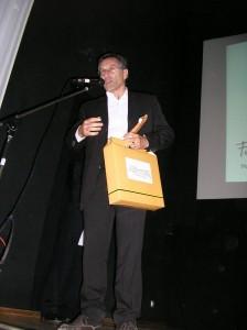 Fabio Civitelli na hora do discurso