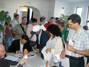 Fabio e os autógrafos
