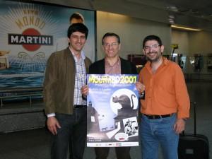 José Carlos Francisco, Fabio Civitelli e Carlos Rico no aeroporto de Lisboa