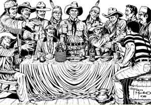 Tex e seus amigos por Fred Macêdo