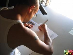 Leomacs desenhando