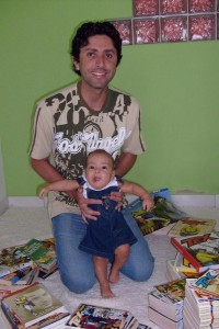 Sílvio Raimundo e seu filho Pedro