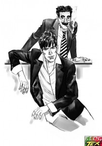 Dylan Dog e Groucho por Angelo Stano