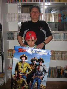 José Manuel Almeida, seu filho e o Tex