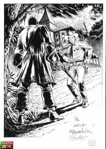 Disegno di Tex per Lucca Comics 2007
