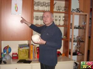 Giancarlo Malagutti no  seu estúdio