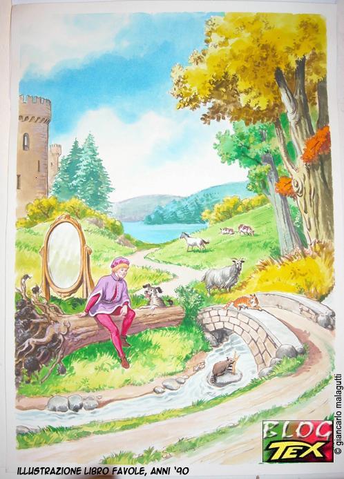 Ilustração para um livro de fábulas