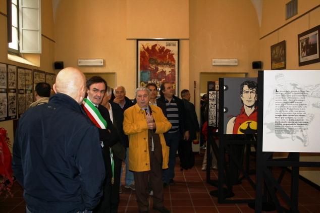 Sergio Bonelli na mostra dedicada a ele