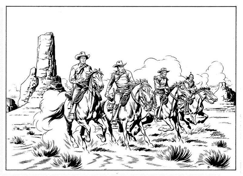 4 pards a cavalo, por Marco Torricelli
