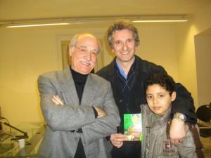 Antonio Mondillo com Giancarlo Berardi, autor de Ken Parker e  Julia