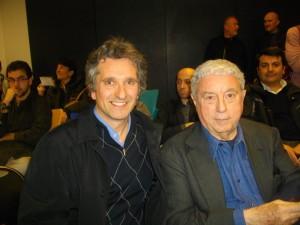 Antonio Mondillo com o mítico Sergio Bonelli