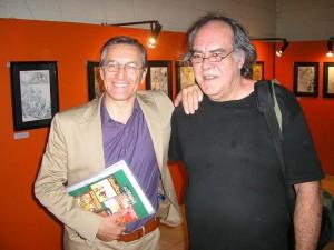 Civitelli e o editor do BDjornal, Jorge Machado-Dias