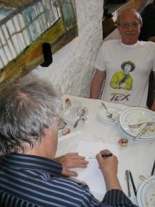 Desenhando à vista com Luiz Beira a auxiliar