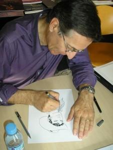Fabio Civitelli a desenhar...