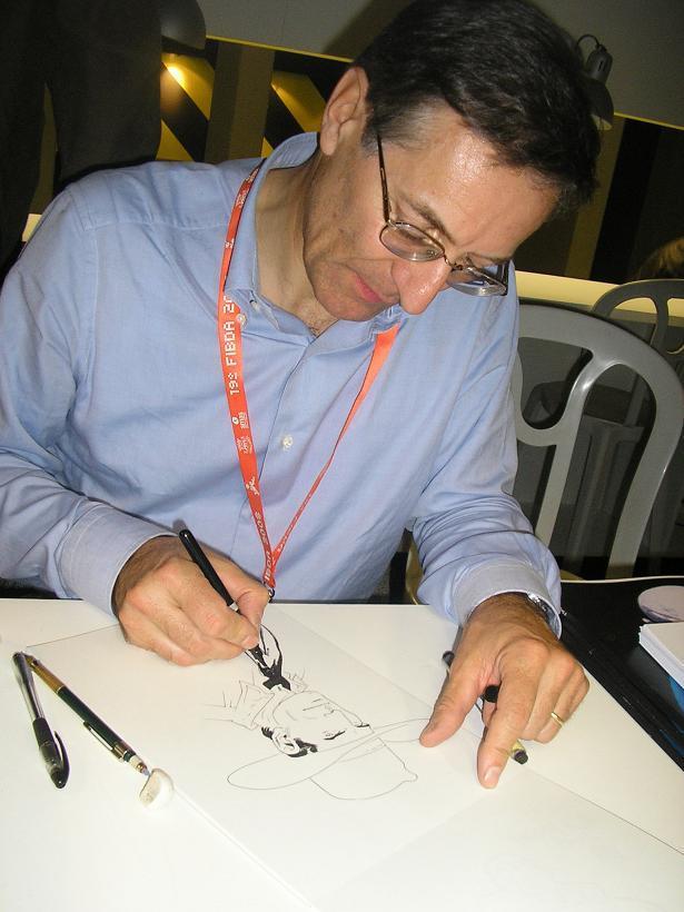 Fabio Civitelli e os desenhos no FIBDA 2008 - B