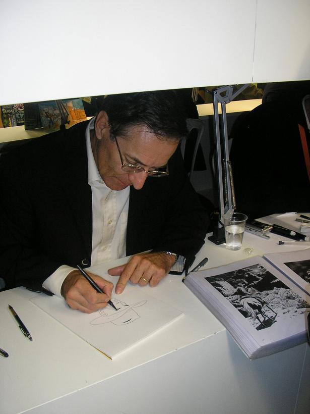 Fabio Civitelli e os desenhos no FIBDA 2008 - C