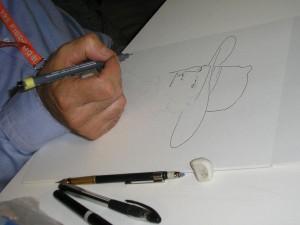 Fabio Civitelli e os desenhos no FIBDA 2008 - D