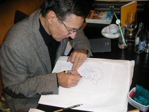 Fabio Civitelli e os desenhos no FIBDA 2008 - E