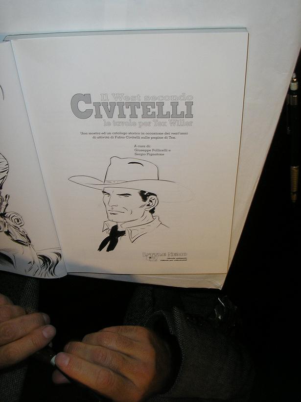 Fabio Civitelli e os desenhos no FIBDA 2008 - J
