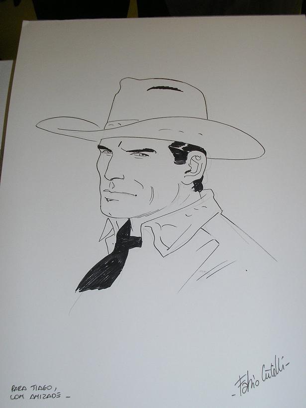 Fabio Civitelli e os desenhos no FIBDA 2008 - T