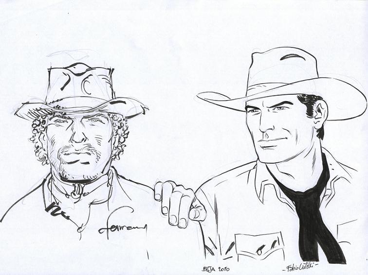 Hermann e Civitelli num cross over com Red Dust e Tex