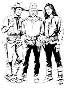 Os amigos Tex, Ken Paker e Mágico Vento, por Adauto Silva
