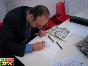 Rossano Rossi a desenhar