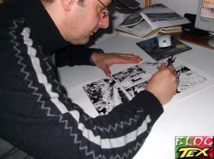 Rossano Rossi desenhando Tex