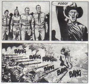 Tex e pards assistem à morte de Santos sem poder fazer nada