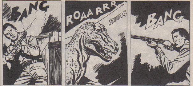 Tex enfrenta dinossauros