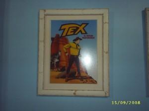 Capa de Tex emoldurada