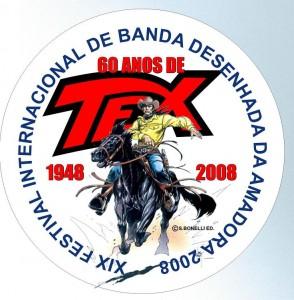 Pin português dos 60 anos de Tex comemorados no Festival da Amadora 2008