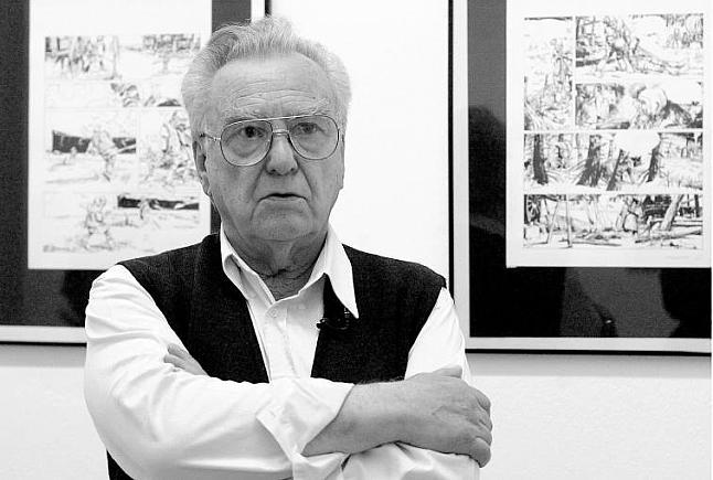 Victor De La Fuente em Outubro de 2002 na exposição dedicada a si em Oviedo
