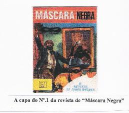 A capa do nº 1 da revista de Máscara Negra