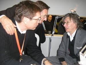 Bianchini, Civitelli e Dionnet à conversa