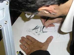 Civitelli desenhando Tex Willer