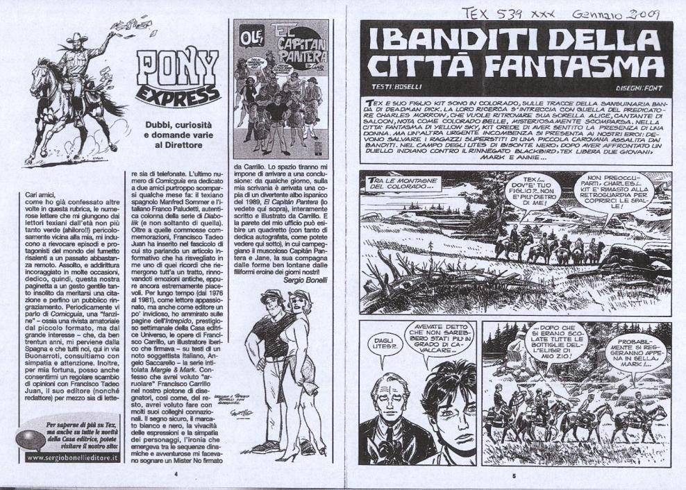 Comicguia #71 - Páginas interiores com Tex em grande destaque