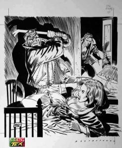 Desenho para capa de Nick Raider #131