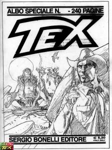 Esboço para capa do Tex Gigante