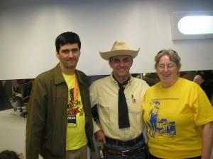 José Carlos Francisco, Tex (Ricardo Leite) e Tizziana Giorgini