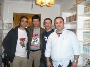 Mário Marques, José Carlos, Carlos Moreira e Álvaro Machado