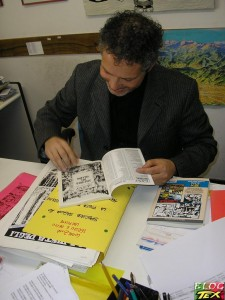 Moreno Burattini a autografar