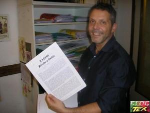Moreno Burattini e o argumento de Zagor na Bahia, Brasil