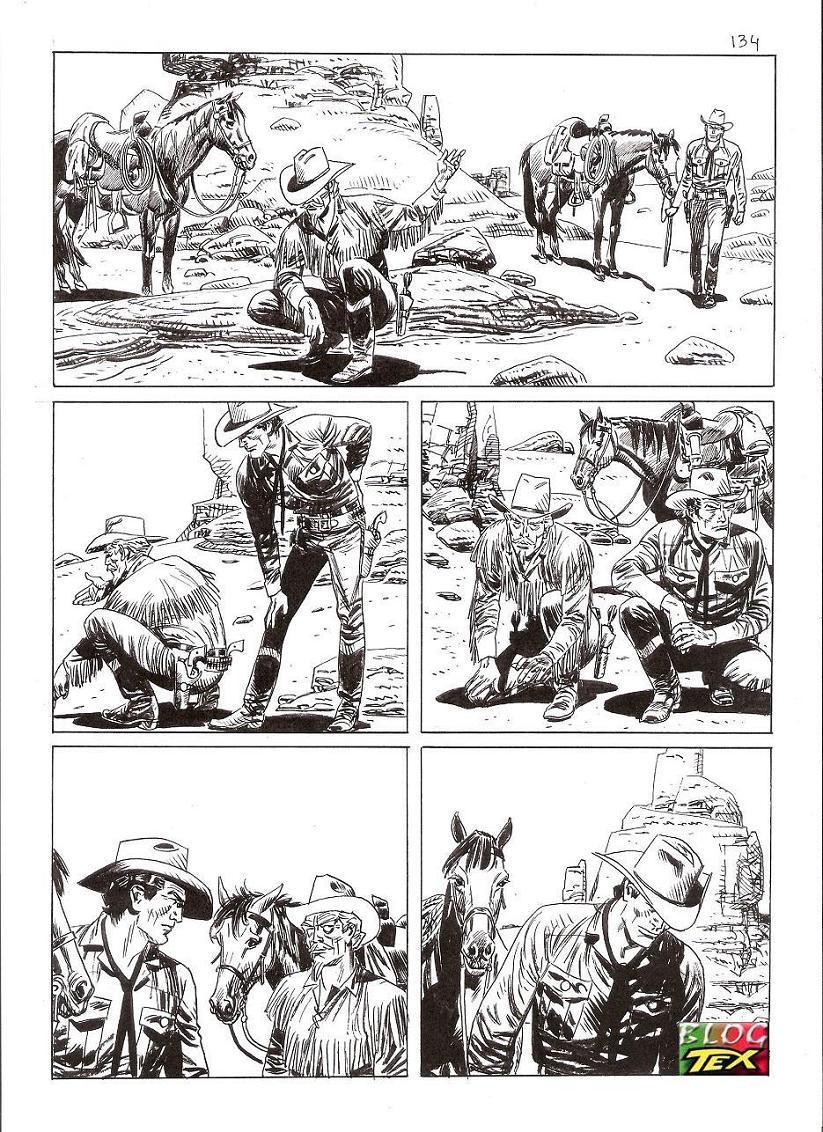 Página 134 da história inédita La mano del morto