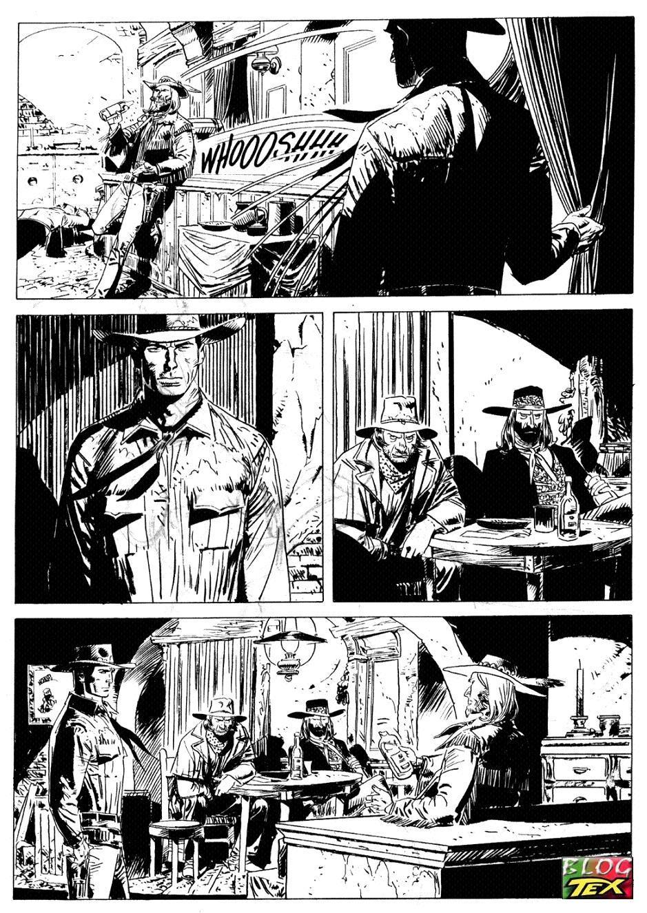 Página inédita de Tex - 2