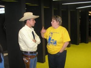 Tex (Ricardo Leite) e Tizziana Giorgini à conversa