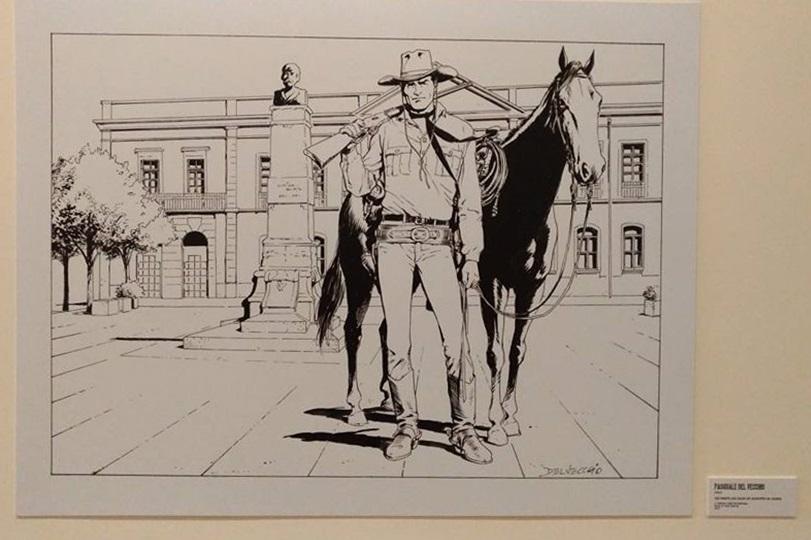 Tex frente aos Paços do Município de Anadia, arte de Pasquale Del Vecchio